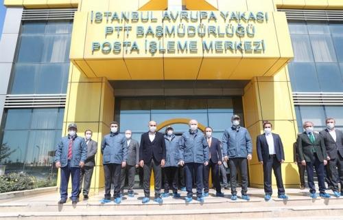 Bakan Karaismailoğlu, Hadımköy Posta İşleme Merkezi'ni Ziyaret Etti