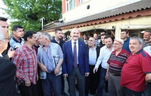 Bakan Soylu Arnavutköy'de Muhtarlarla Buluştu
