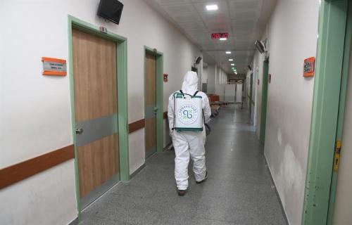 Sağlık Alanları Her gün Dezenfekte Ediliyor