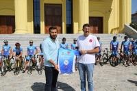 Bisikletliler Kütahya'dan Yola Çıktı