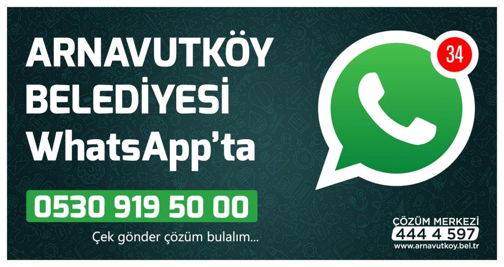 Arnavutköy Belediyesi WhatsApp'ta