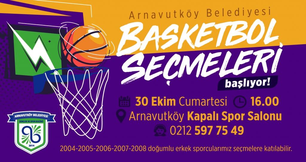 Arnavutköy Belediyesi Basketbol Seçmeleri Başlıyor